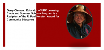 Gerry Oleman, Recipient of the R. Paul Kerston Award